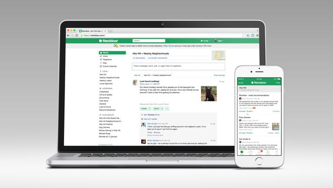 Nextdoor.com is available on desktop and mobile.