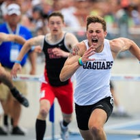 Boys' state track: Ankeny Centennial's Riley Moss caps dominant season with hurdles gold