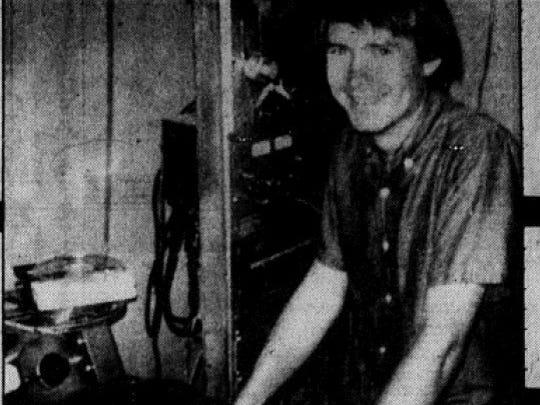 Bobby Fuller in his home studio, 1963.