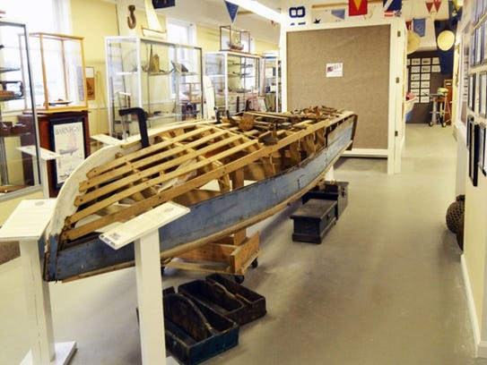 A boat being built at the New Jersey Museum of Boating