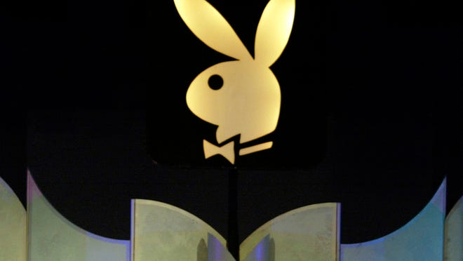 The Playboy logo in Los Angeles.
