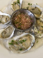 Virginia salts are served on the half shell at Horizons