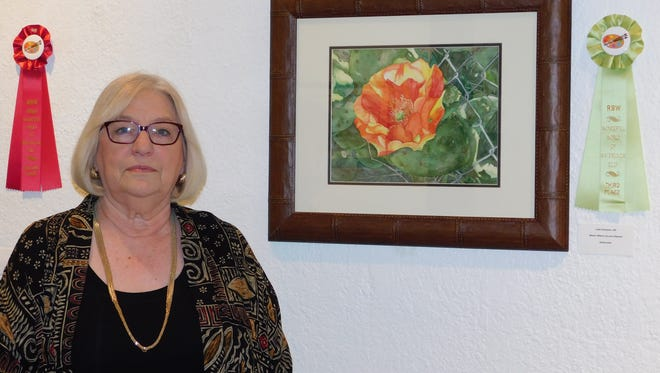 """Judy Hampton won third place for """"Bloom Where You Are Planted."""""""