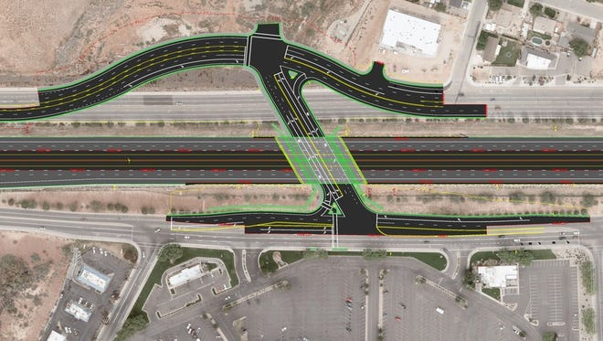 Project rendering of new Interstate 15 underpass.