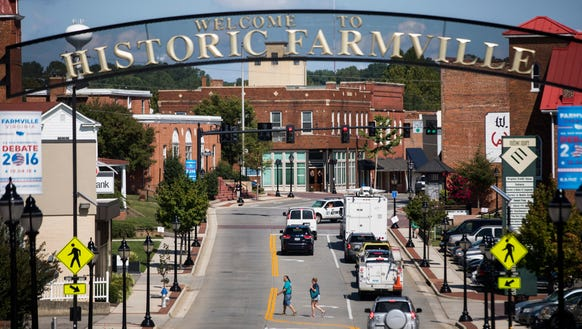 Farmville, Va., site of the great Kaine-Pence battle