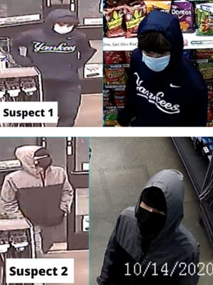 Austin police are looking for two men who authorities say robbed a 7-Eleven store in South Austin during the early hours of Wednesday.