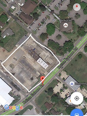 A screenshot of the lot there the new St. Pius X Catholic Church will be built is shown.