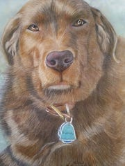One of the dogs that Sue Kazusky of Pinckney drew by
