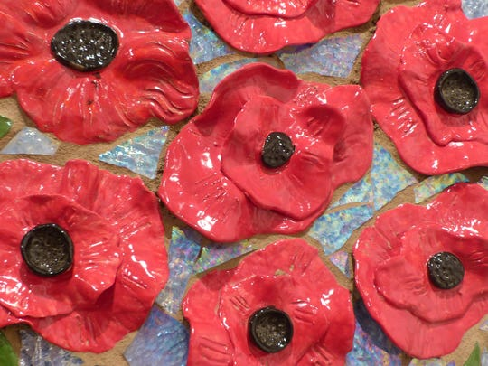 A lot of detail is present in these red poppies.