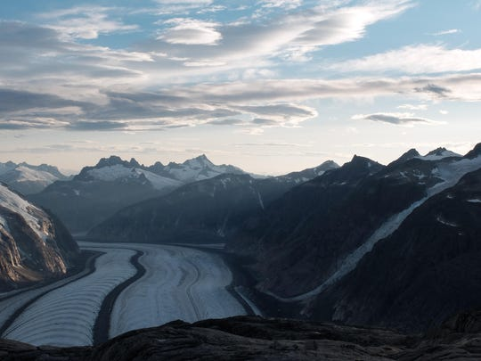 The Gilkey Trench in the Juneau Icefield is named for Art Gilkey, a former student at the Juneau Icefield Research Program and mountaineer who died climbing K2 in the 1950s.