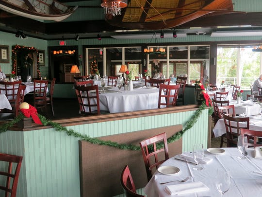 The main dining room at The Bay House.