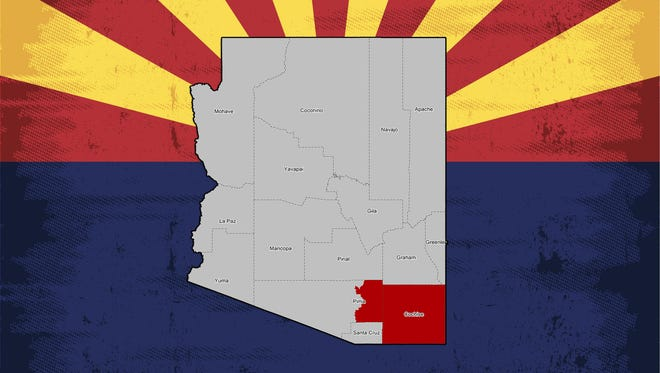 A map of Arizona's 2nd Congressional District.