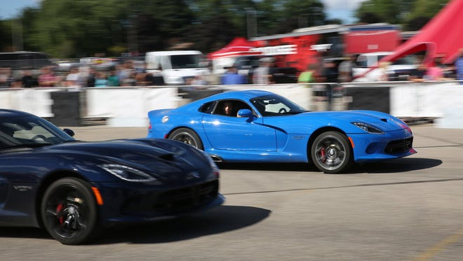 Thrill rides in Dodge Vipers were a key attraction at the Roadkill Nights Powered by Dodge event in 2015 at the Pontiac Silverdome.