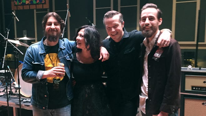 Producer Dave Cobb, musicians Amanda Shires and Jason Isbell, with Memphis engineer Matt Ross-Spang. Ross-Spang earned a Grammy for his work with Isbell in 2016 and will be up for another in 2017.