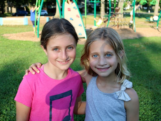 Jefferson School in Westfield families and staff gathered for a Summer Social on July 26. Pictured are Dylan Esposito, grade 4, and Talia Esposito, grade 2.