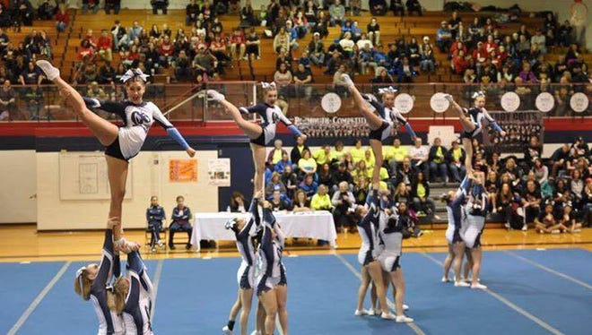 The Richmond High School cheer team during a recent performance.