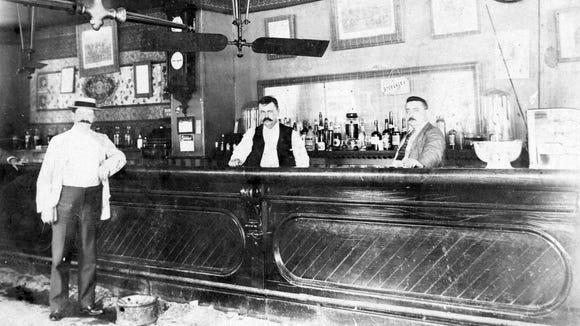 Dover's Bayard Hotel in 1905 with bartender Frank Van