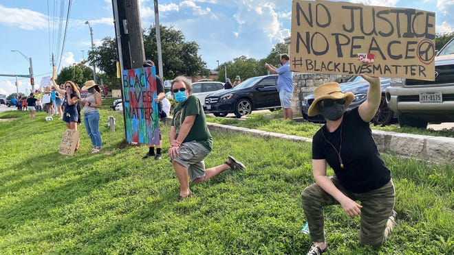 Protesters rally for Black Lives Matter in Lakeway on June 2.  A new advisory group was formed by Rep. Vikki Goodwin to address racism in her district.