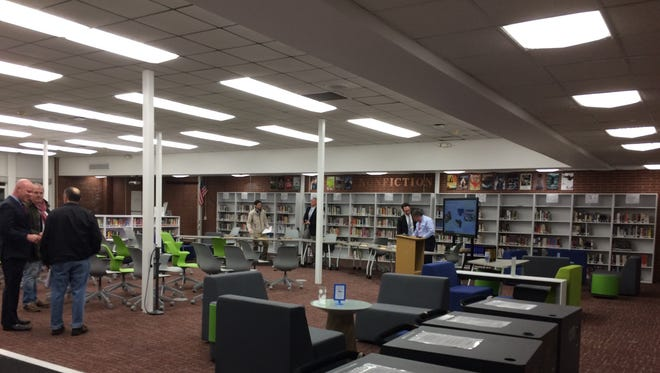 A view of the Verona High School library after the Tuesday, Nov. 29, Board of Education meeting.