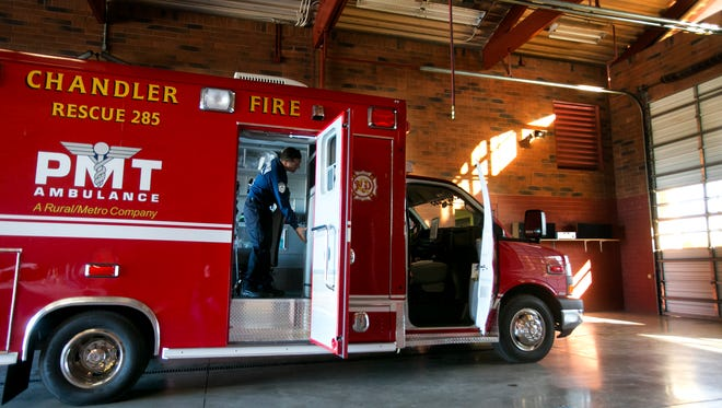 Rural/Metro, which owns both Southwest Ambulance and PMT Ambulance, provides ambulance and fire-protection services in more than 30 Arizona communities.  It provides ambulance service in Chandler.