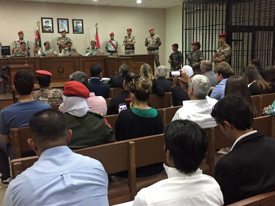 A military court convenes in the case of a Jordanian