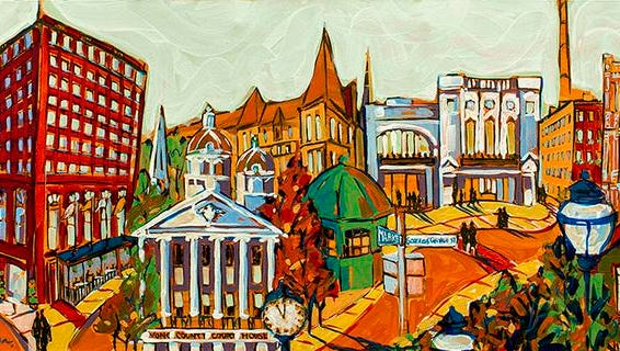 "Yorkfest's featured artist is  Brenda Wintermyer; the is her painting ""City Alive."""