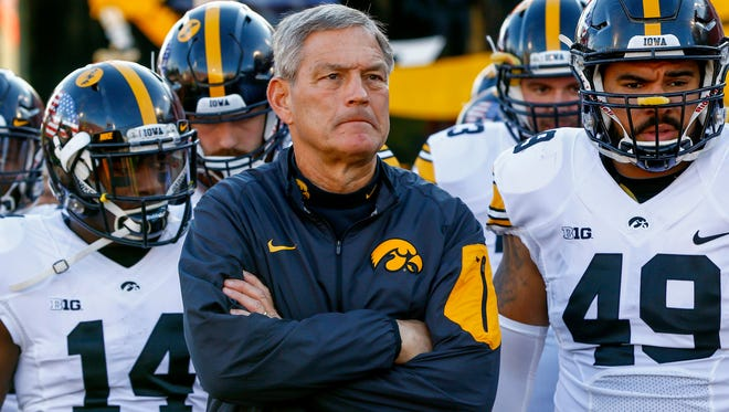 Kirk Ferentz has led the Hawkeyes to a 9-0 start and No. 8 national ranking.