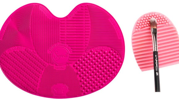 Clean your makeup brushes with specially-designed silicone mats.