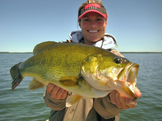 Understanding that weather, water temperature, season and forage all play a role in how to fish a bass lake has changed the way Mandy Uhrich approaches a lake.