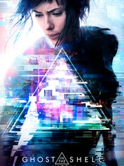 "The ""Ghost in the Shell"" one-sheet features Scarlett Johansson as The Major."