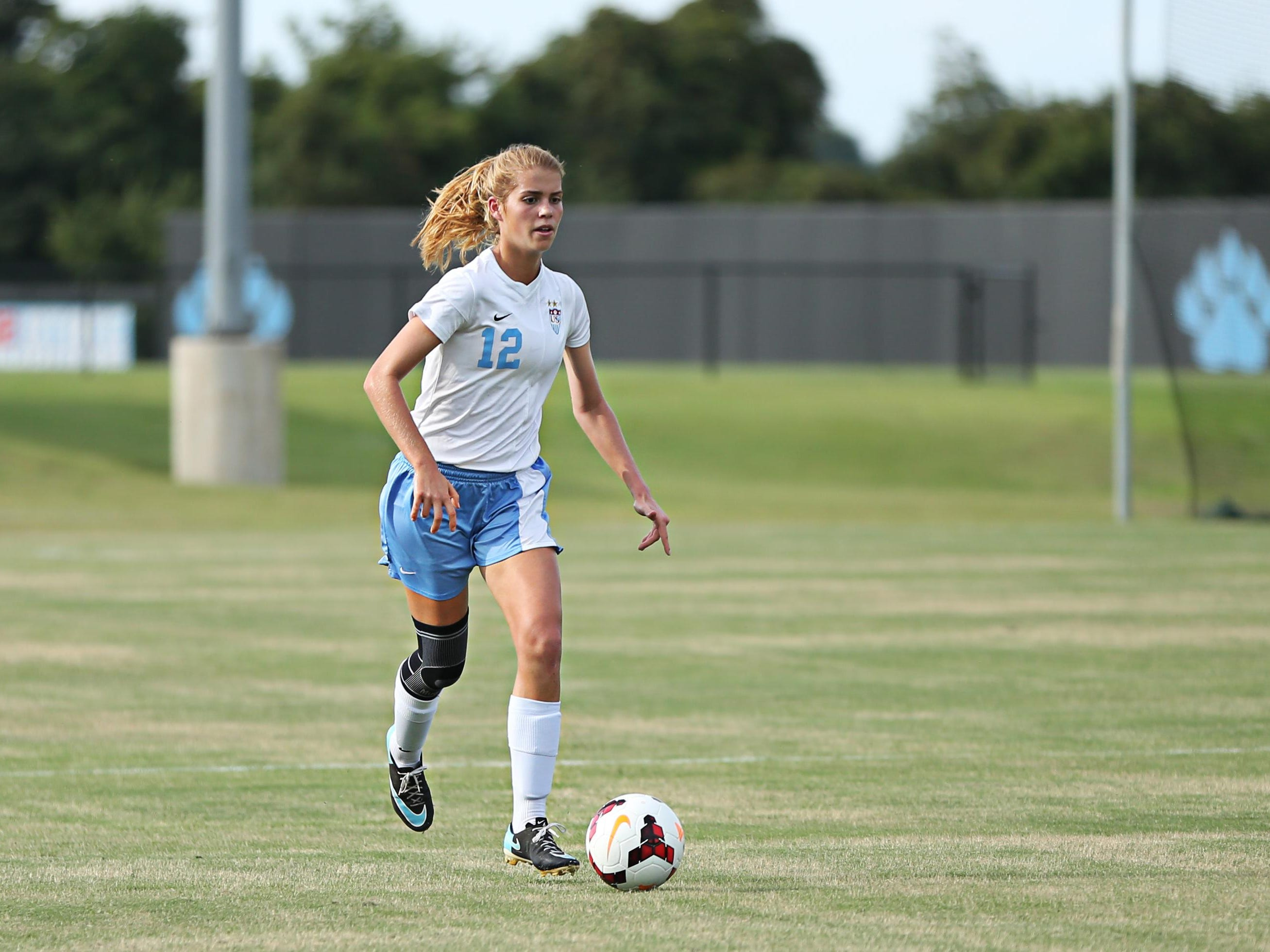 Abbey Fleming is now in her junior year for the USJ girls' soccer team.