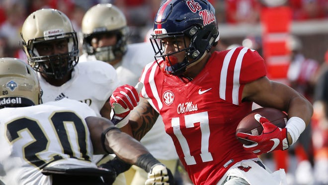 Evan Engram and his Ole Miss teammates will look to snap their two-game losing streak on Saturday.