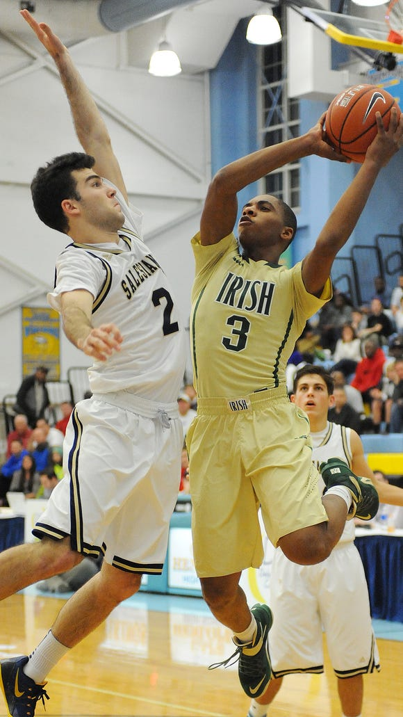 Salesianum School took on St. Vincent-St. Mary of Ohio during the 2014 Slam Dunk to the Beach tournament.