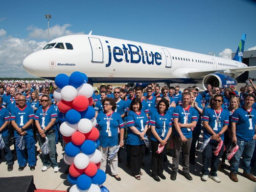 On April 25, 2016, JetBlue received the first aircraft