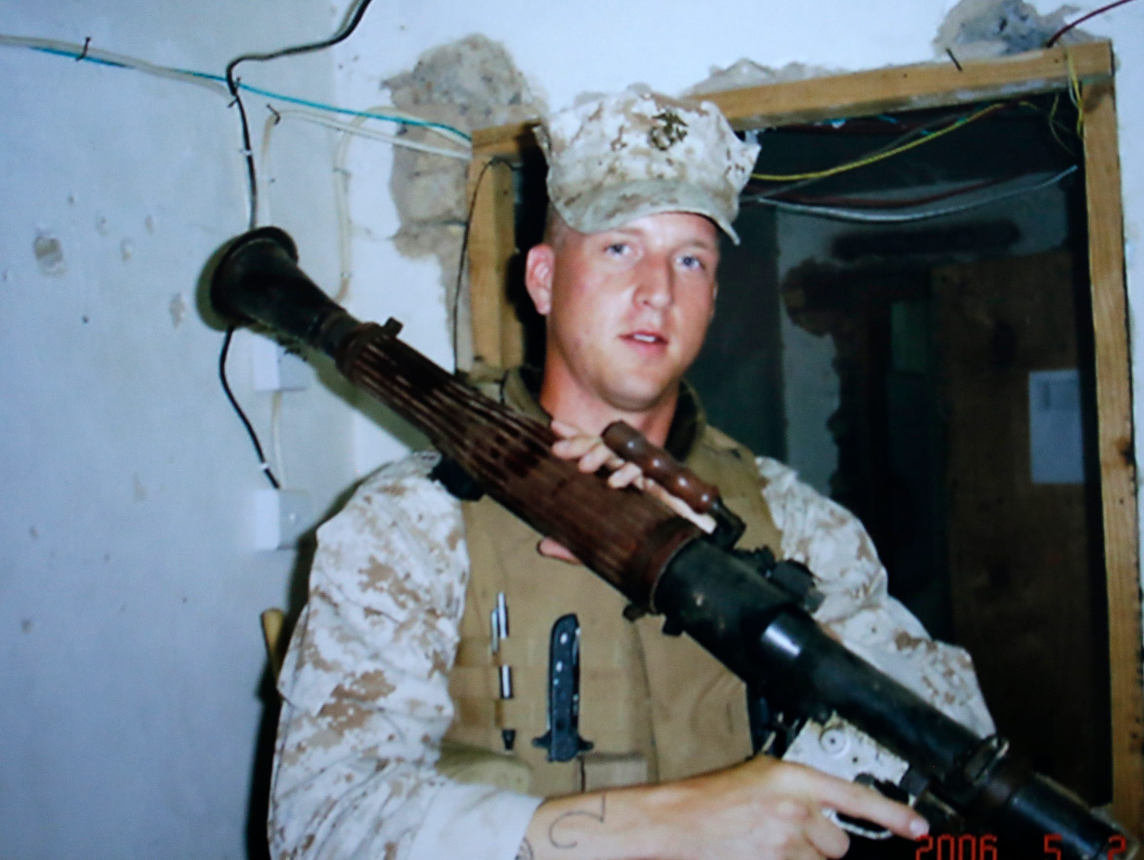 A photo of Sgt. Brandon Ketchum during his time with