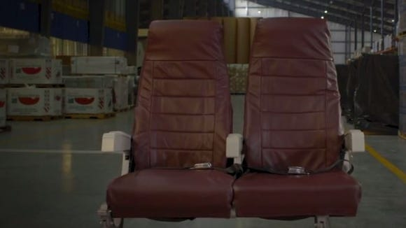 Leather from Horizon Air seats has been repurposed