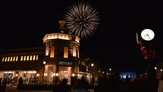 Hamilton Town Center's Holiday Festival includes shopping, a visit from Santa, fireworks and more.