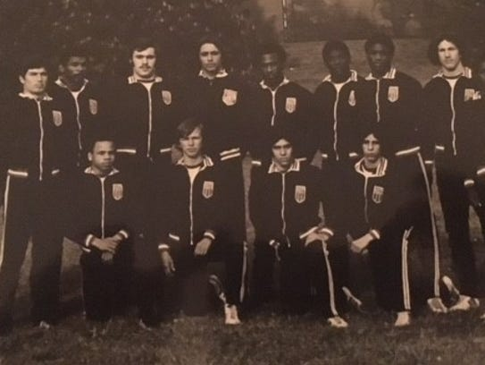 Horace Perry (fifth from right in the back row) and