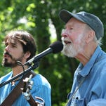 Guitarist Spook Handy (left) will pay tribute to the late folk singer Pete Seeger, with whom he performed for several years, at First Night Morris. The event will take place on Thursday, Dec. 31, at several venues within walking distance of the Green in Morristown. Free shuttles between locales will be provided.