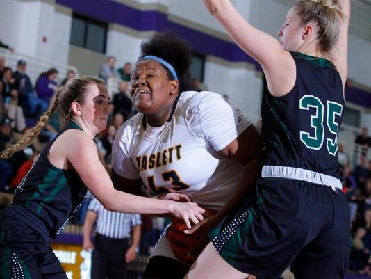 Williamston vs Haslett District Girls Basketball