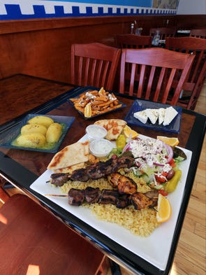 A selection of food at The Greek Spot on McLean Avenue