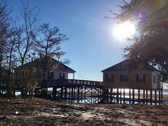 Cabins on Lake Pontchartrain are available for overnight stays at Fontainebleau State Park in Mandeville.