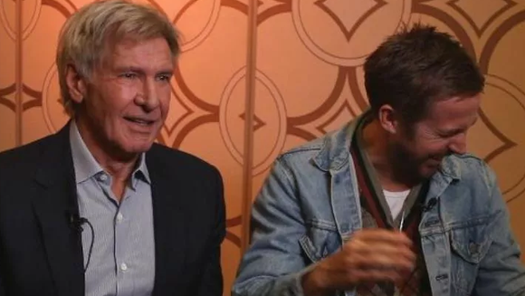 Harrison Ford explains Han Solo's death to Ryan Gosling.