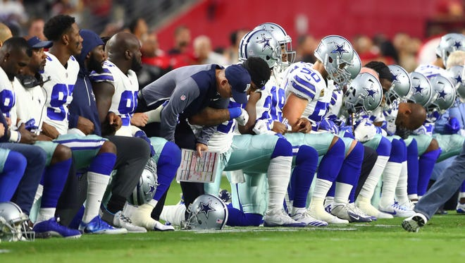 Dallas Cowboys at the University of Phoenix Stadium in Glendale, Ariz., on Sept. 25, 2017.