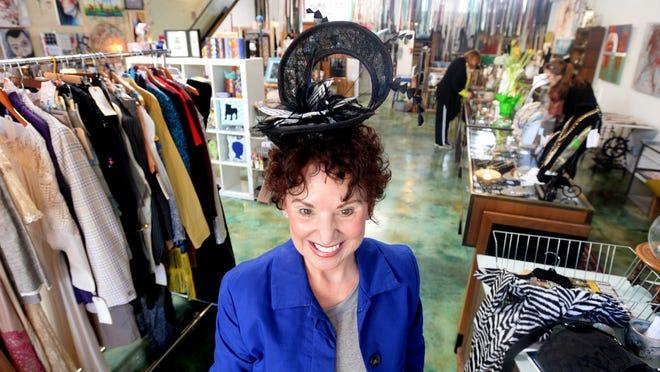 Sharon Hebert found a hat she loves at The Agora Borealis.