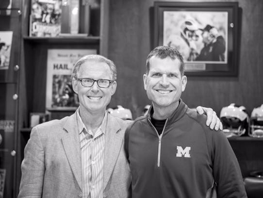 David Turnley and Jim Harbaugh