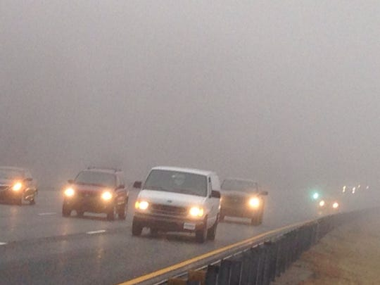 Watch for fog in some areas.