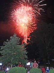 Fireworks light up the sky at the City of Fairview's Independence Day Celebration July 3, 2018.