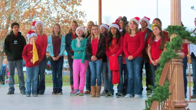 The annual Gazebo Lighting and Holiday Sing-Off, sponsored by the Kiwanis Club of Silver City, is at 5 p.m. on Friday, Dec. 2 at the Gough Park gazebo.
