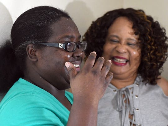 Gwendolyn Fairman is overjoyed by the completion of her new home, after her previous home was destroyed in the Jan. 21, 2017, tornado.